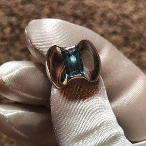 James Avery Blue Topaz Monaco Ring